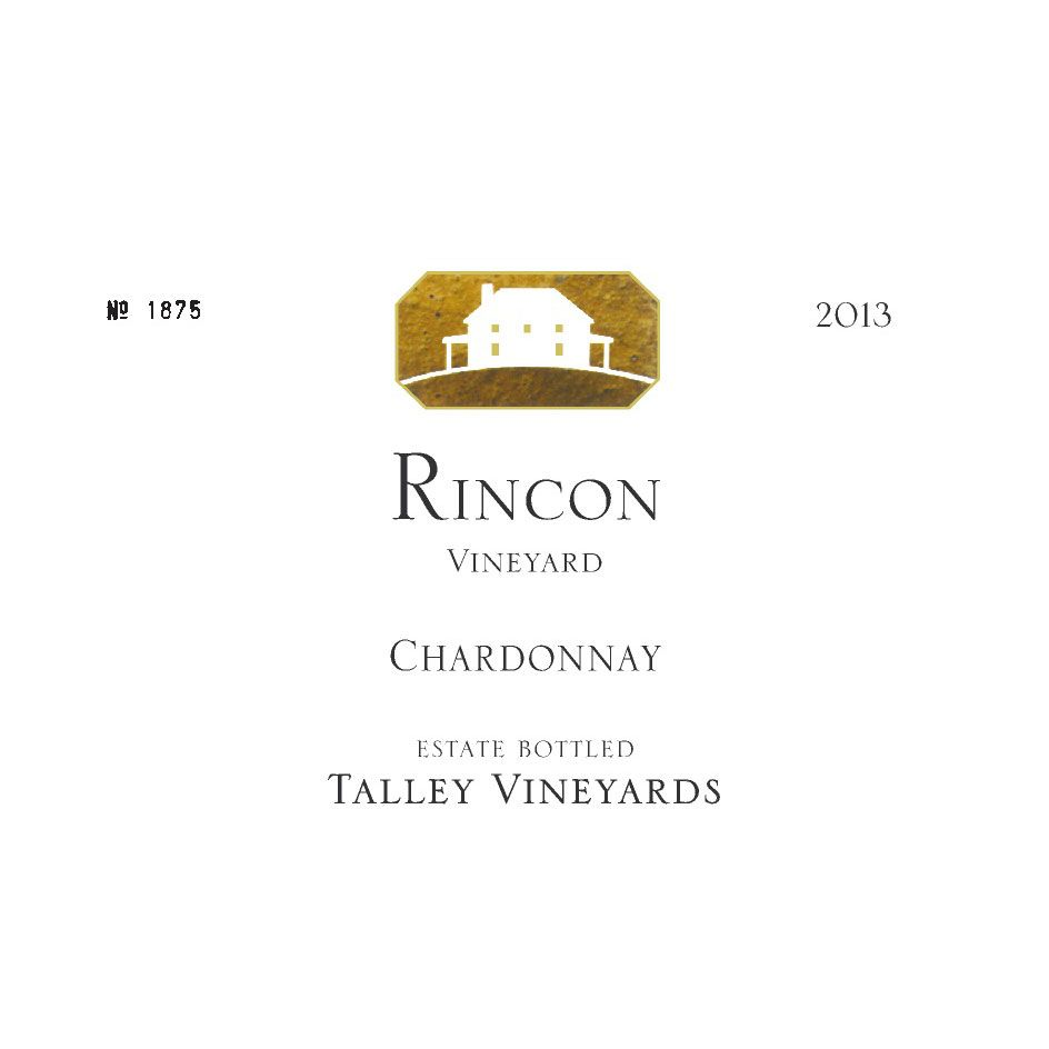 Talley Rincon Vineyard Chardonnay 2013 Front Label