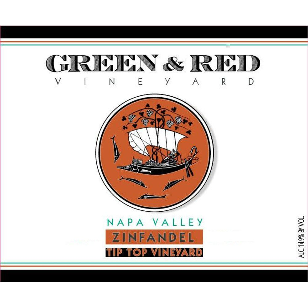 Green & Red Tip Top Vineyard Zinfandel 2012 Front Label