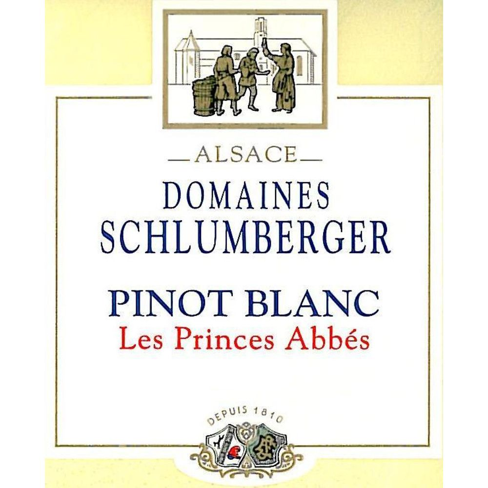 Domaines Schlumberger Les Princes Abbes Pinot Blanc 2013 Front Label