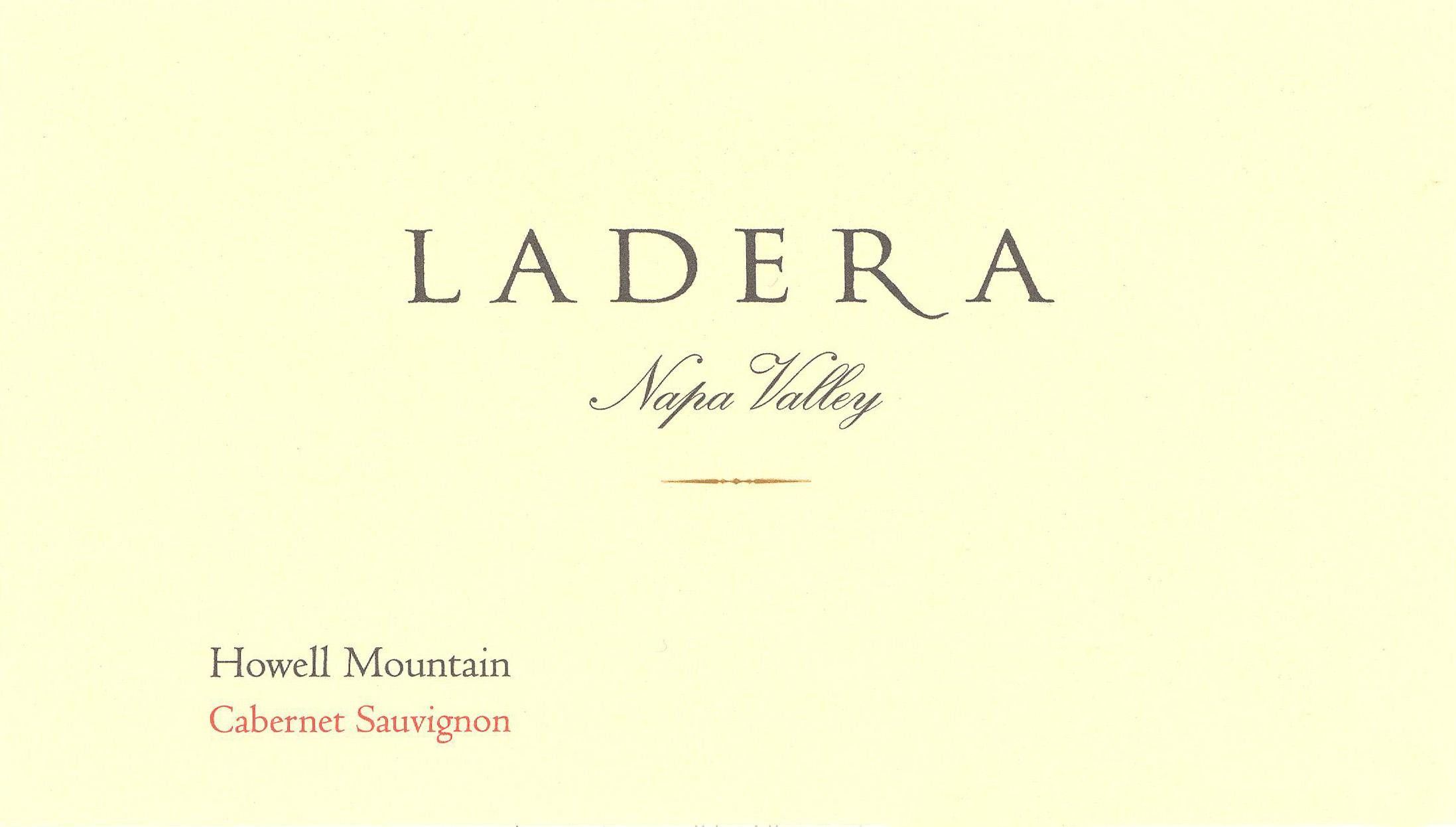 Ladera Howell Mountain Cabernet Sauvignon 2010 Front Label