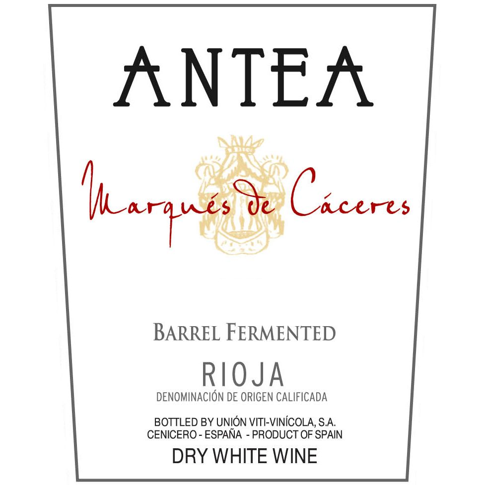 Marques de Caceres Antea Barrel-Fermented White Blend 2012 Front Label