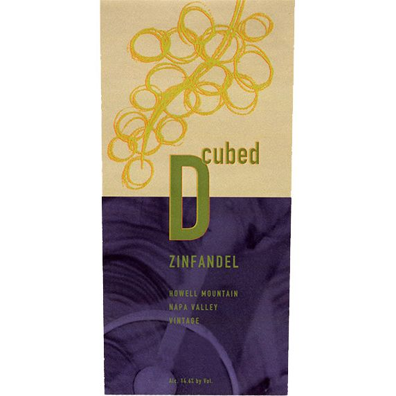 D-Cubed Cellars Napa Valley Zinfandel 2010 Front Label