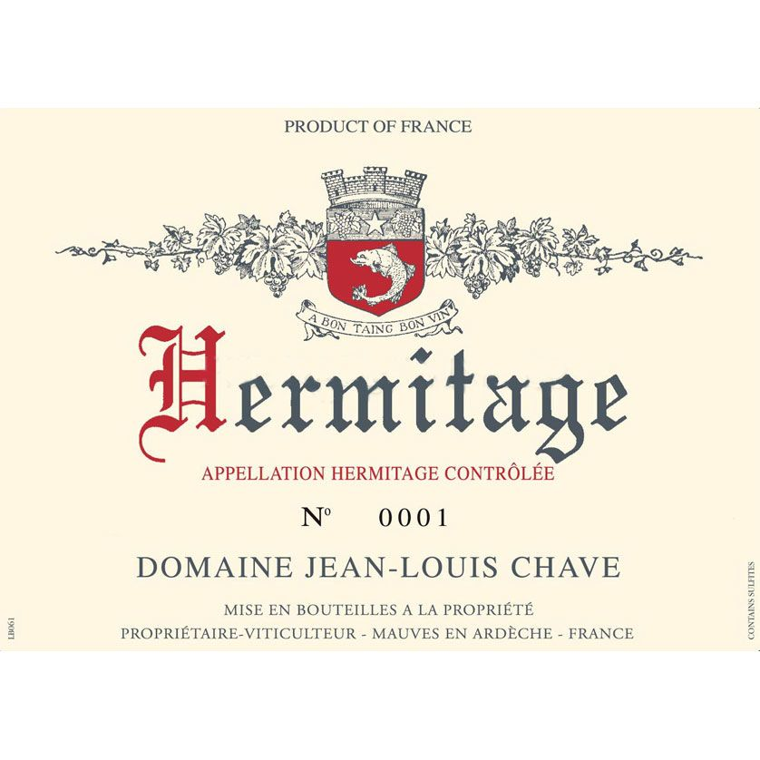 Jean-Louis Chave Hermitage Blanc 2012 Front Label