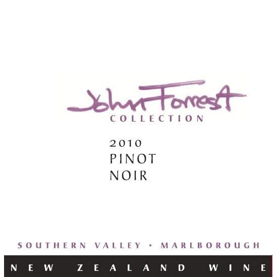 Forrest Estate John Forrest Collection Waitaki Pinot Noir 2011 Front Label