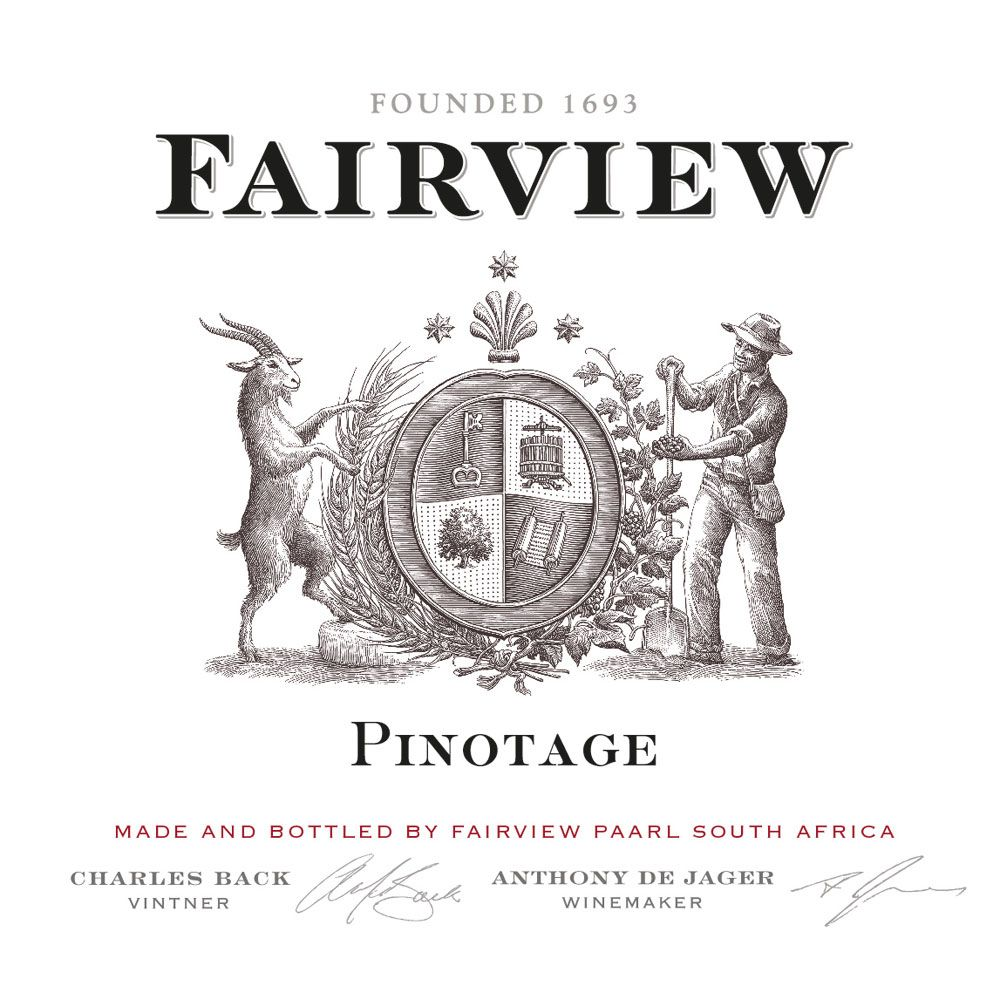 Fairview Pinotage 2014 Front Label