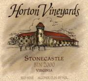 Horton Stonecastle Red Bin 2000 2000 Front Label