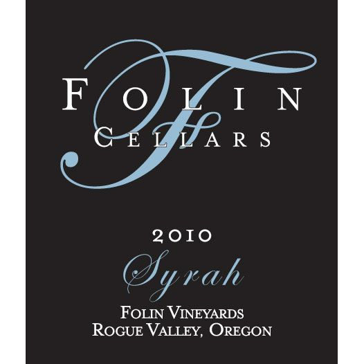 Folin Cellars Syrah 2010 Front Label
