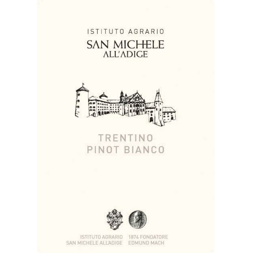 San Michele Pinot Bianco 2013 Front Label