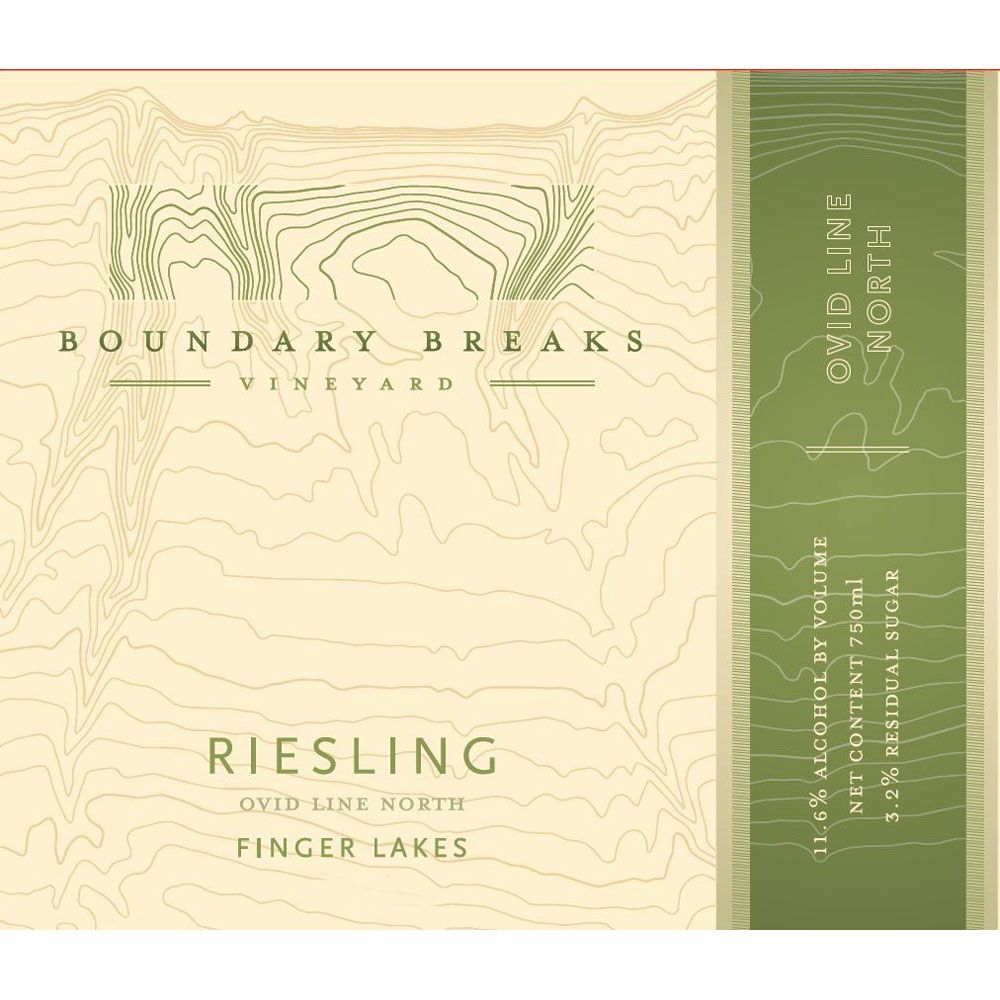 Boundary Breaks Ovid Line North Riesling 2013 Front Label