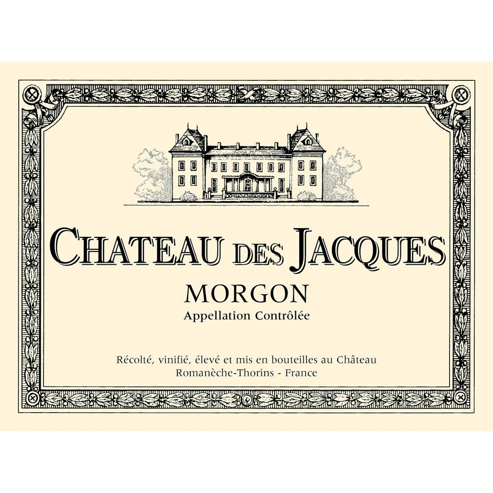 Chateau des Jacques Morgon 2012 Front Label