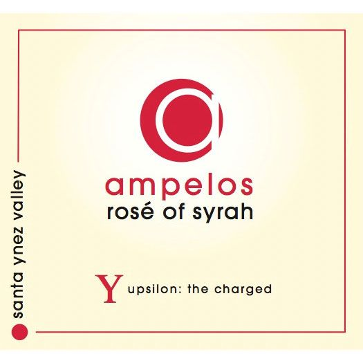 Ampelos Cellars Rose of Syrah 2014 Front Label