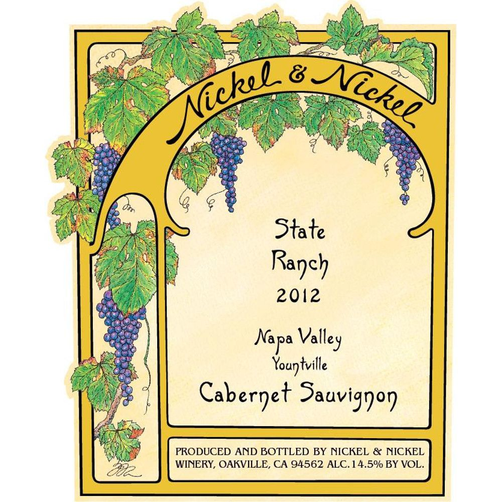 Nickel & Nickel State Ranch Cabernet Sauvignon 2012 Front Label