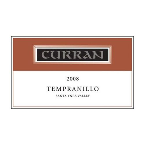 Curran Tempranillo 2008 Front Label