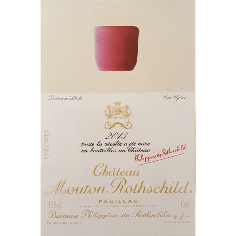 Chateau Mouton Rothschild  2013 Front Label