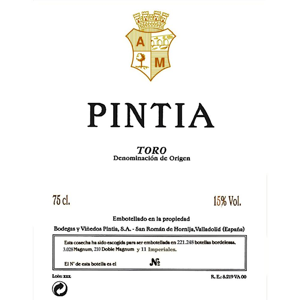 Bodegas y Vinedos Pintia  2010 Front Label