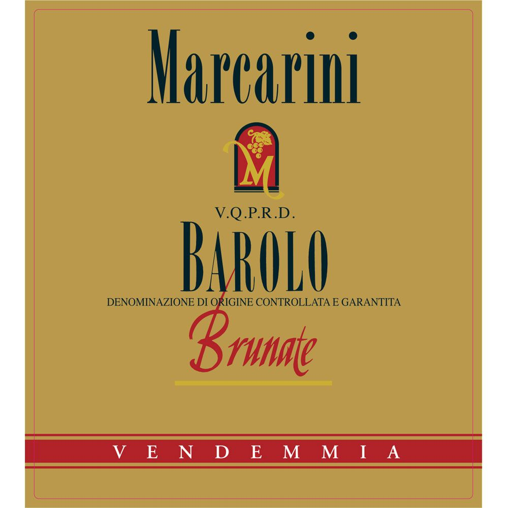 Marcarini Barolo Brunate (375ML half-bottle) 2011 Front Label