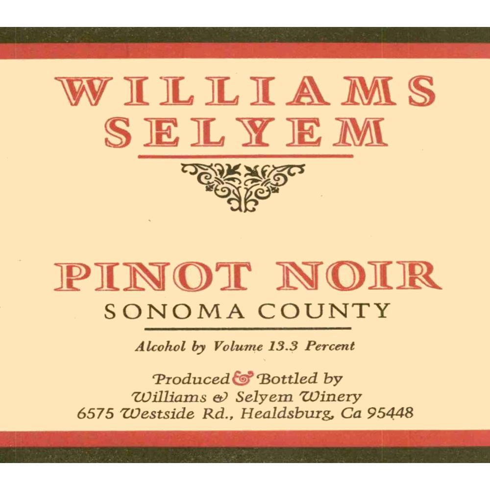 Williams Selyem Russian River Valley Pinot Noir 2004 Front Label