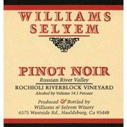 Williams Selyem Rochioli Riverblock Vineyard Pinot Noir 2005 Front Label