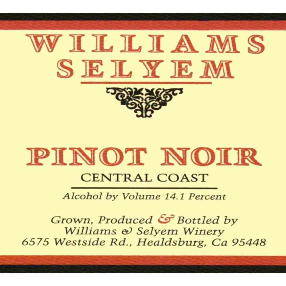 Williams Selyem Central Coast Pinot Noir 2005 Front Label