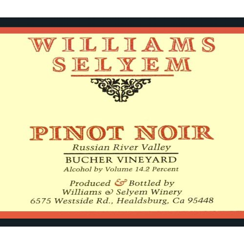 Williams Selyem Bucher Vineyard Pinot Noir 2005 Front Label