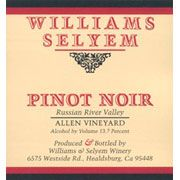 Williams Selyem Allen Vineyard Pinot Noir 2006 Front Label