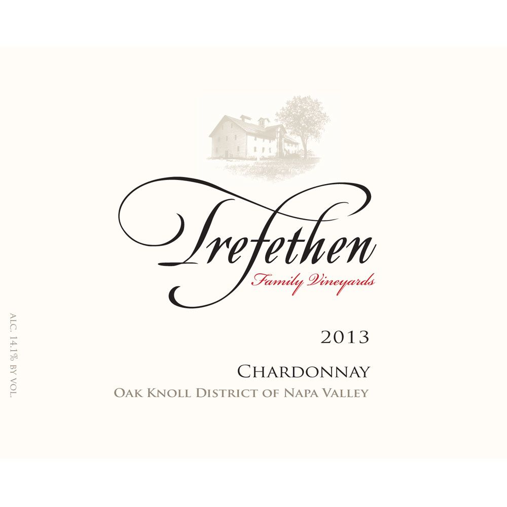 Trefethen Estate Chardonnay (375ML half-bottle) 2013 Front Label