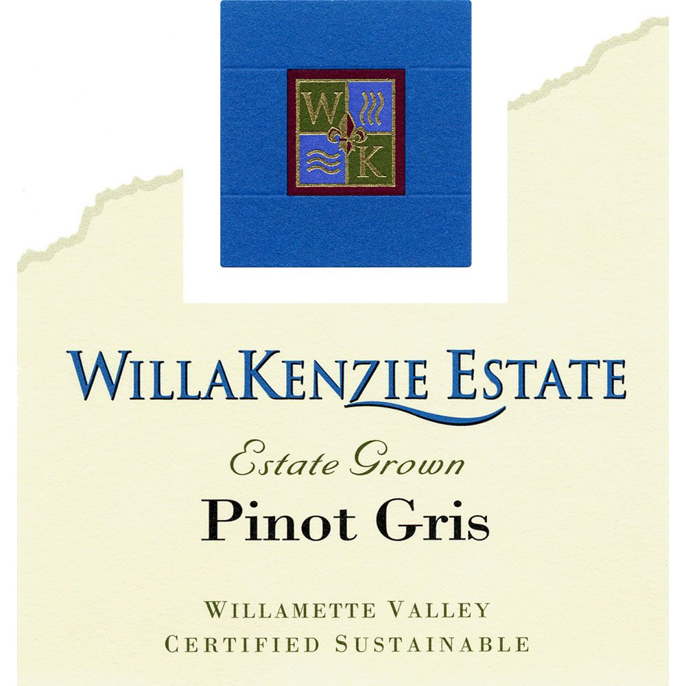 WillaKenzie Estate Pinot Gris 2014 Front Label