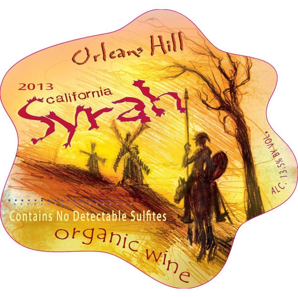 Orleans Hill Syrah 2013 Front Label
