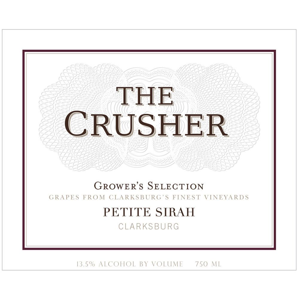 The Crusher Petite Sirah 2013 Front Label