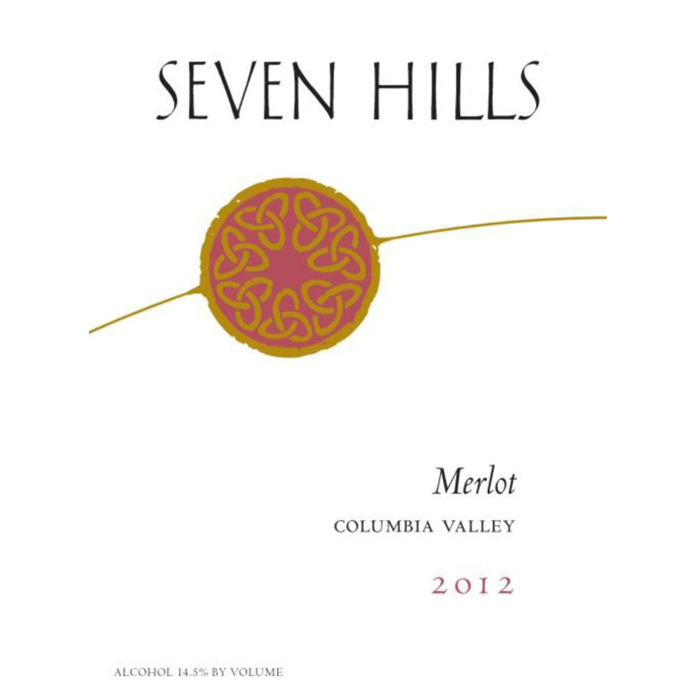 Seven Hills Winery Columbia Valley Merlot 2012 Front Label