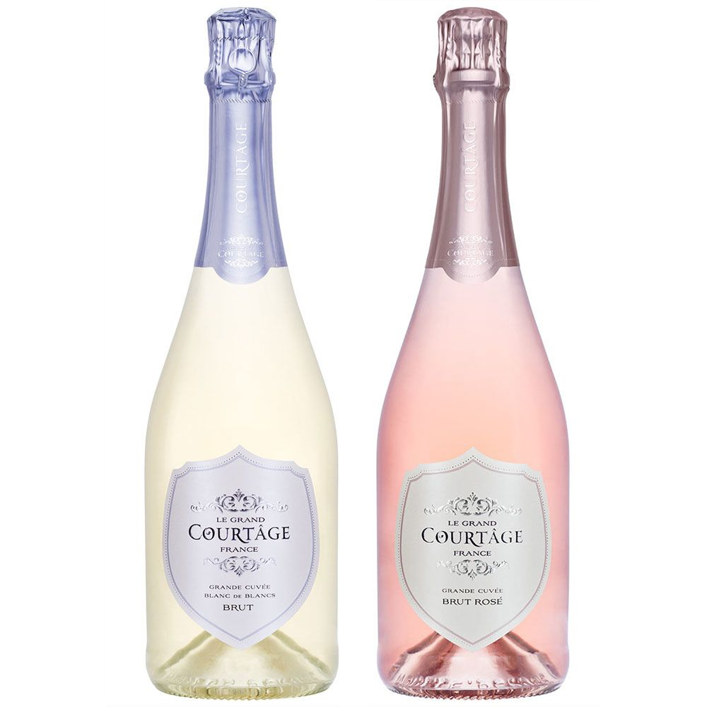 Le Grand Courtage Rose & Blanc de Blancs Bruts (Includes 2 Gift Bags) Gift Product Image