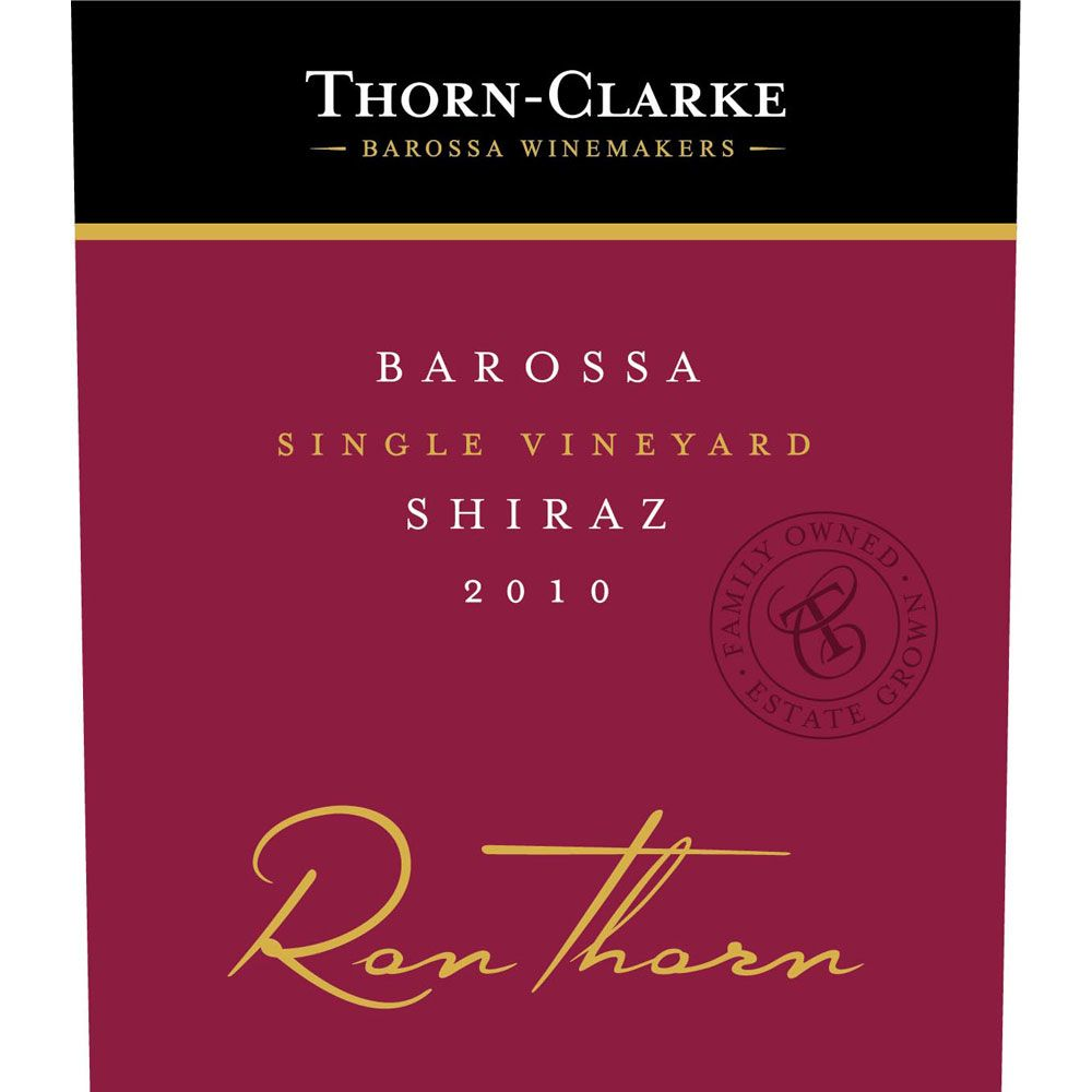 Thorn-Clarke Ron Thorn Shiraz 2010 Front Label