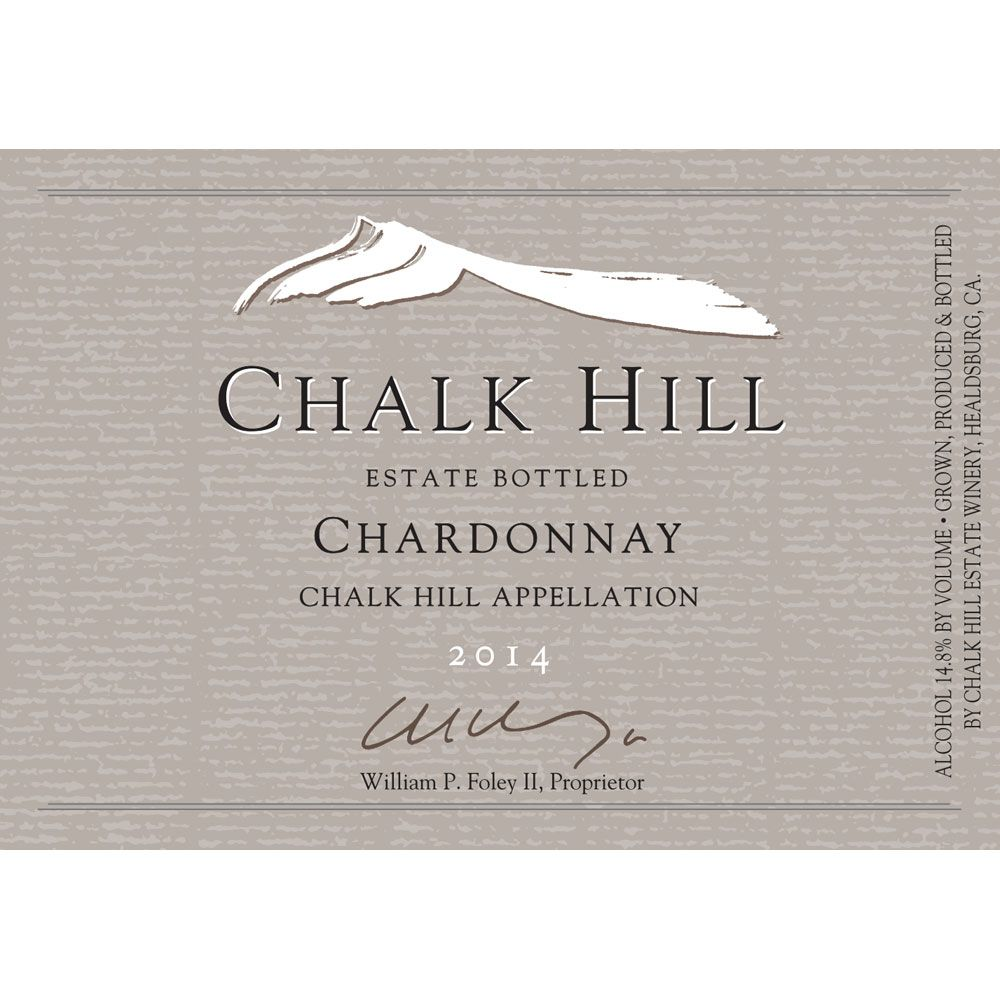 Chalk Hill Estate Chardonnay 2014 Front Label