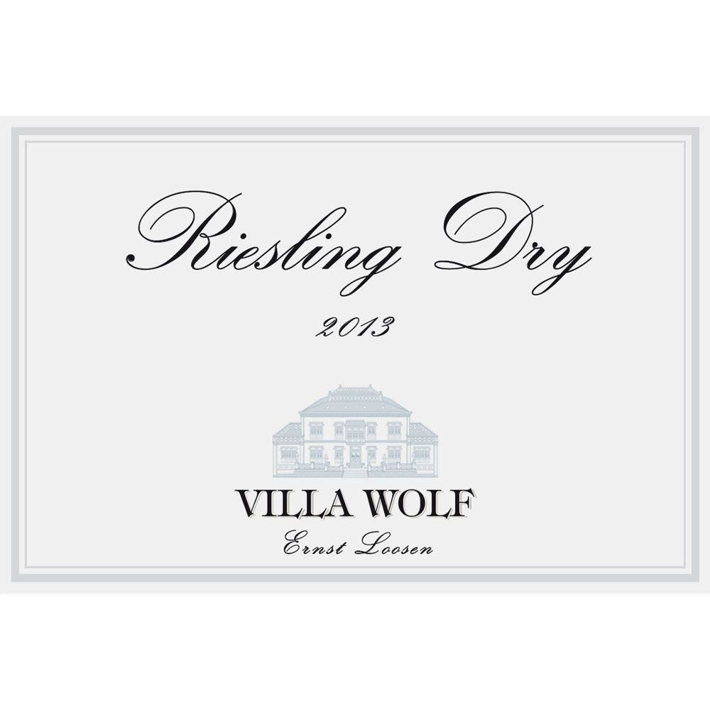 Villa Wolf Riesling Dry 2013 Front Label