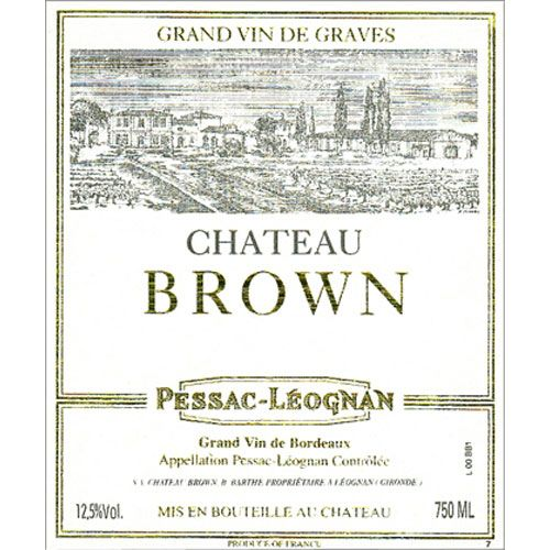 Chateau Brown Blanc 2013 Front Label