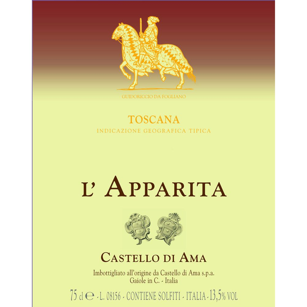 Castello di Ama L'Apparita 2008 Front Label