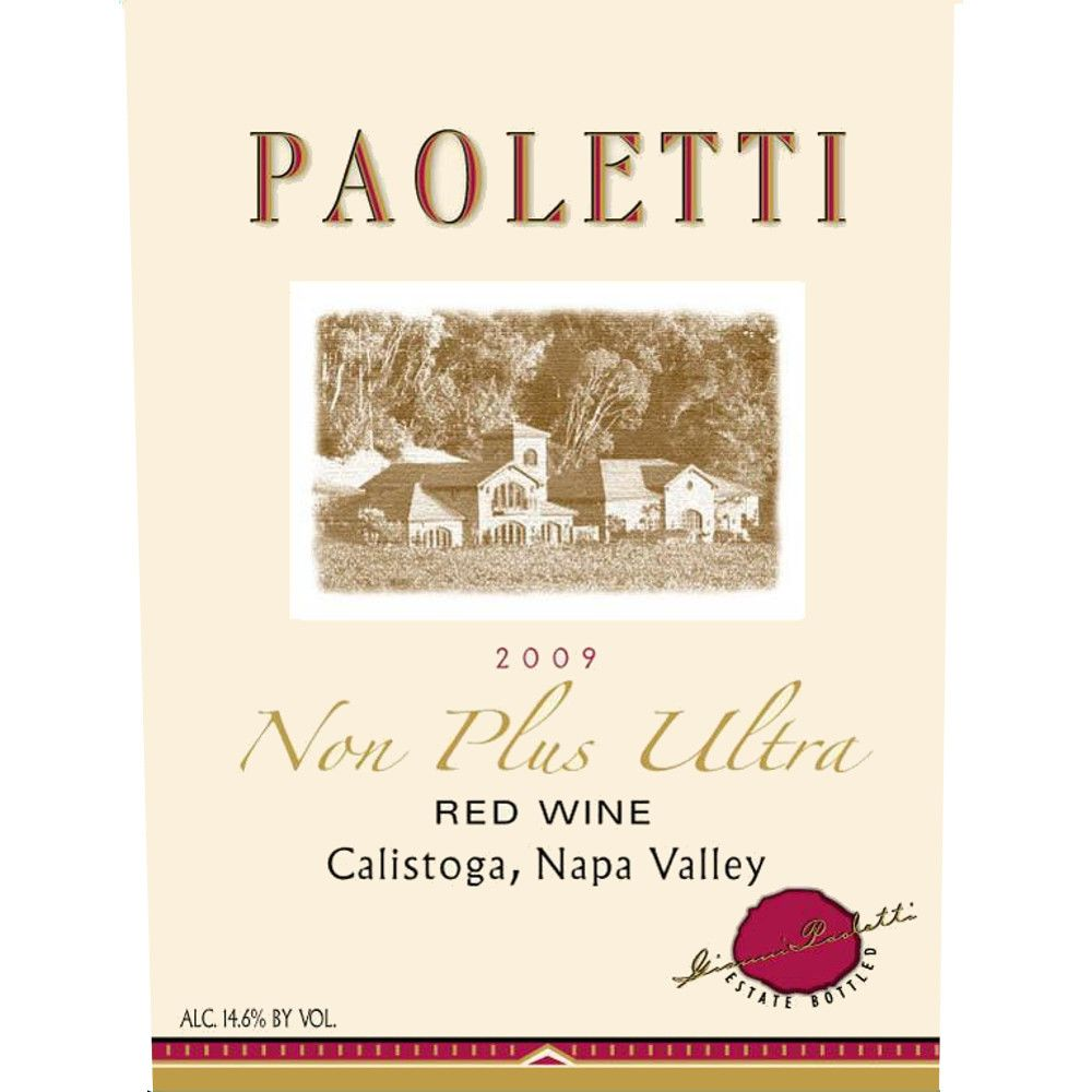Paoletti Non Plus Ultra 2009 Front Label