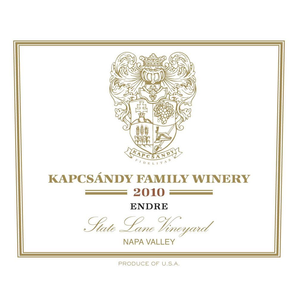 Kapcsandy Family Winery Endre 2010 Front Label