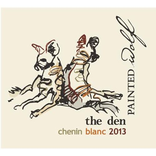 Painted Wolf The Den Chenin Blanc 2013 Front Label