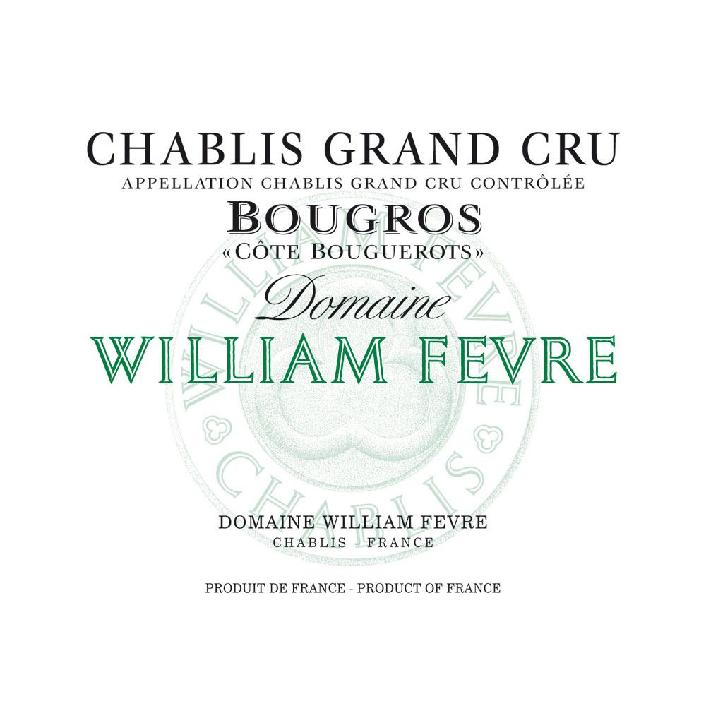 William Fevre Chablis Bougros Cote Bouguerots Grand Cru 2013 Front Label