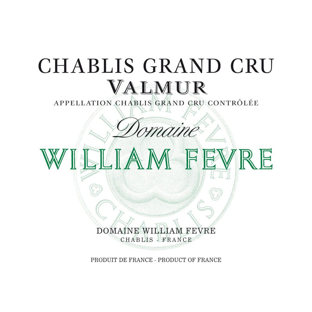 William Fevre Chablis Valmur Domaine Grand Cru 2013 Front Label