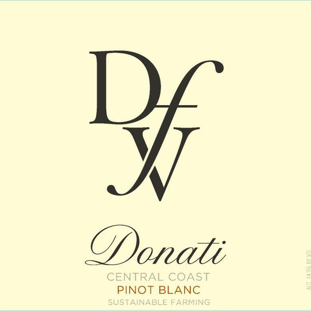 Donati Family Vineyards Pinot Blanc 2014 Front Label