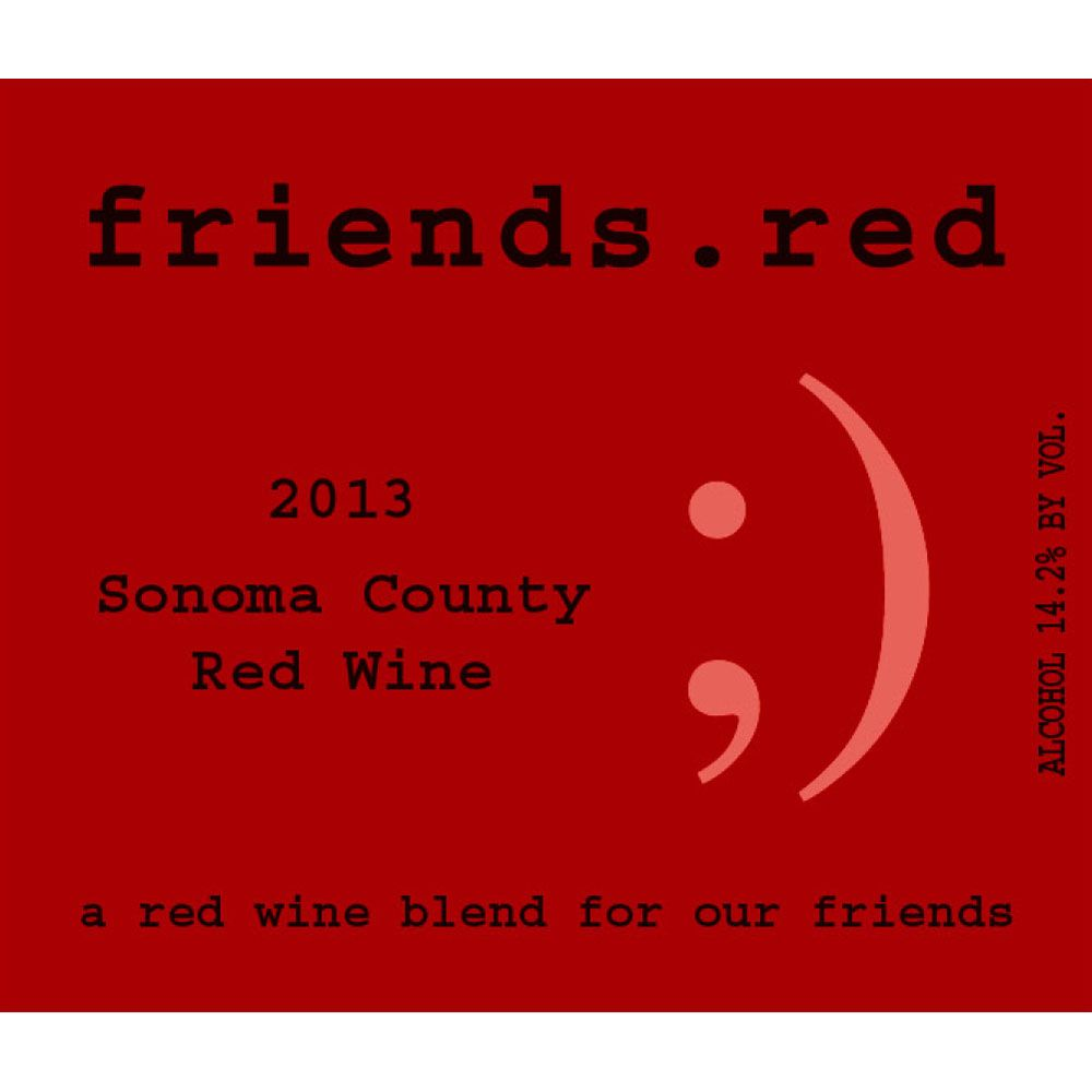 Pedroncelli friends.red 2013 Front Label