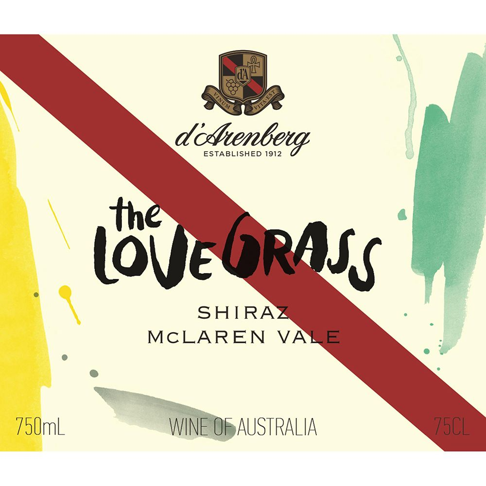 d'Arenberg The Love Grass Shiraz 2011 Front Label