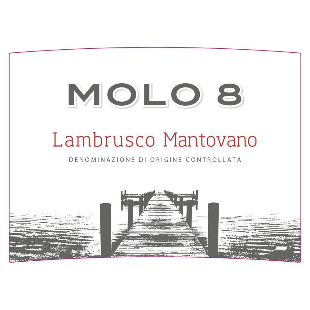 Molo 8 Lambrusco Mantovano Front Label