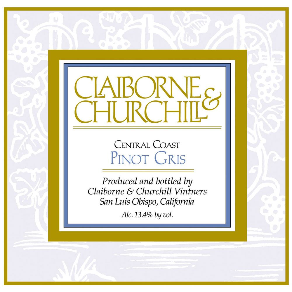 Claiborne & Churchill Pinot Gris 2014 Front Label