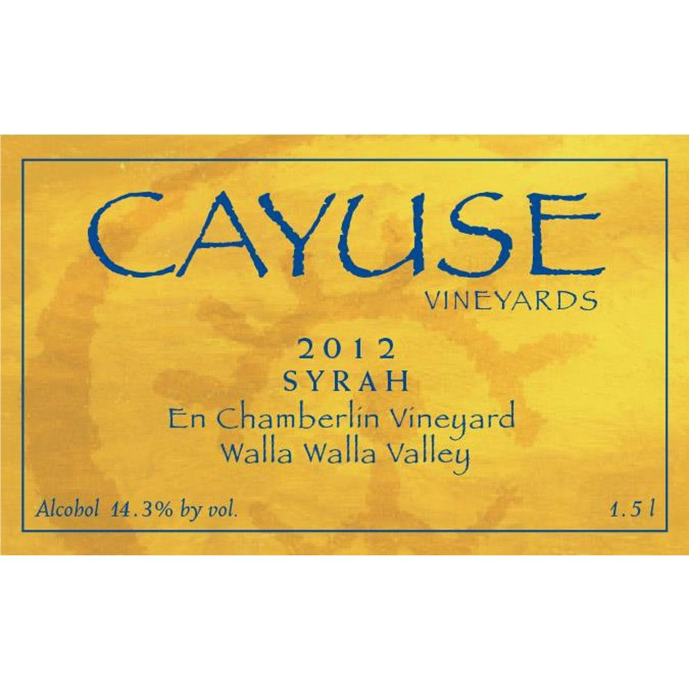 Cayuse En Chamberlin Syrah 2012 Front Label