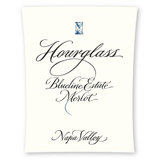 Hourglass Blueline Vineyard Merlot 2013 Front Label