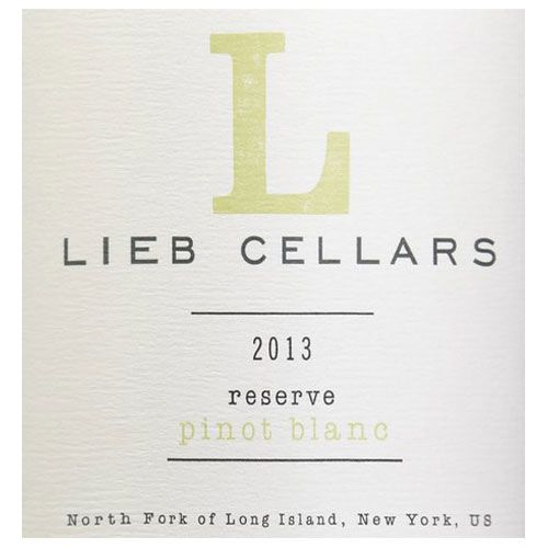 Lieb Cellars Reserve Pinot Blanc 2013 Front Label