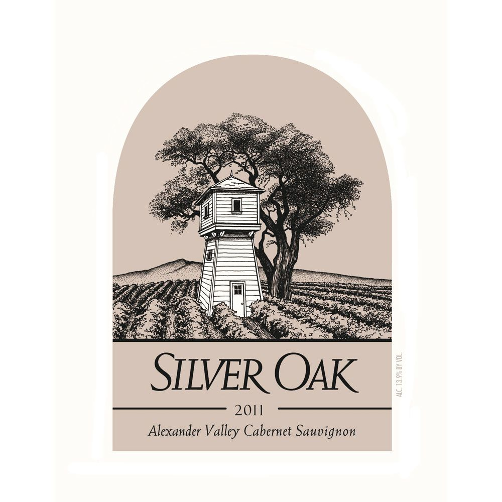 Silver Oak Alexander Valley Cabernet Sauvignon (3 Liter Bottle) 2011 Front Label